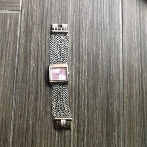 Guess watch with pink face
